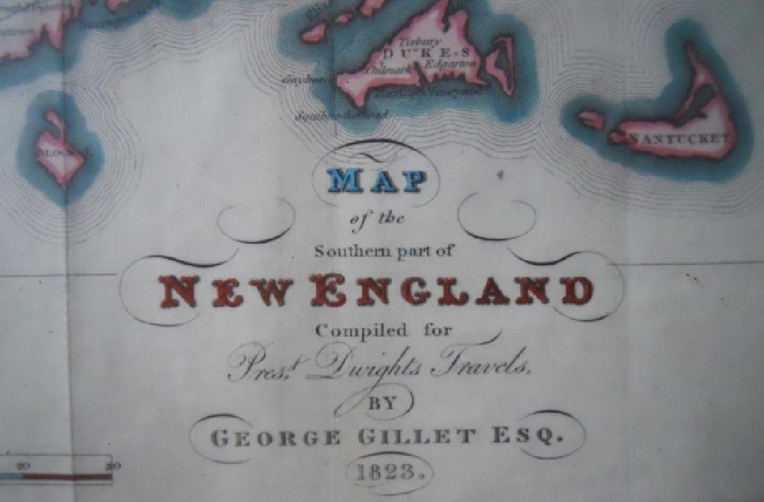 1823 Map of Southern New England, George Gillet - 3