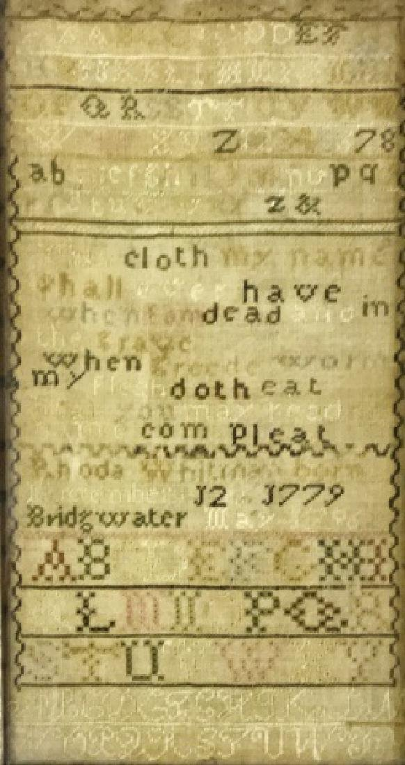 New England Sampler, Rhoda Whitman, 1796 - 2