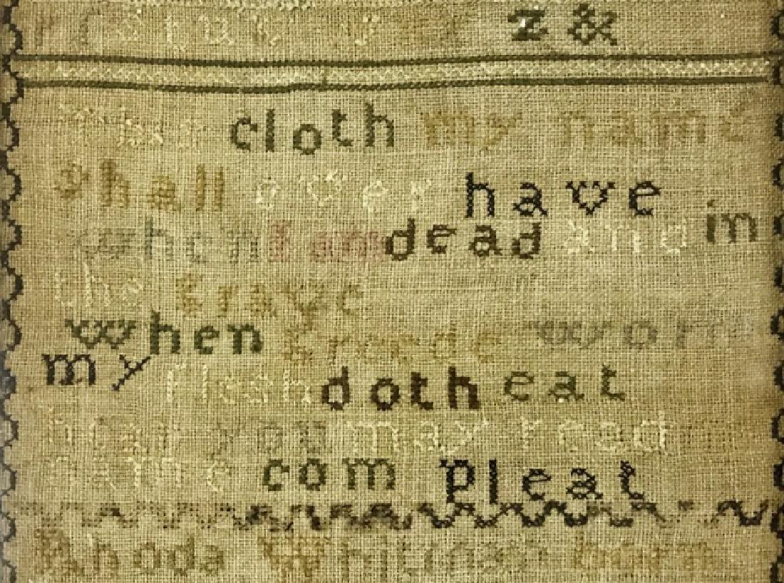 New England Sampler, Rhoda Whitman, 1796 - 3
