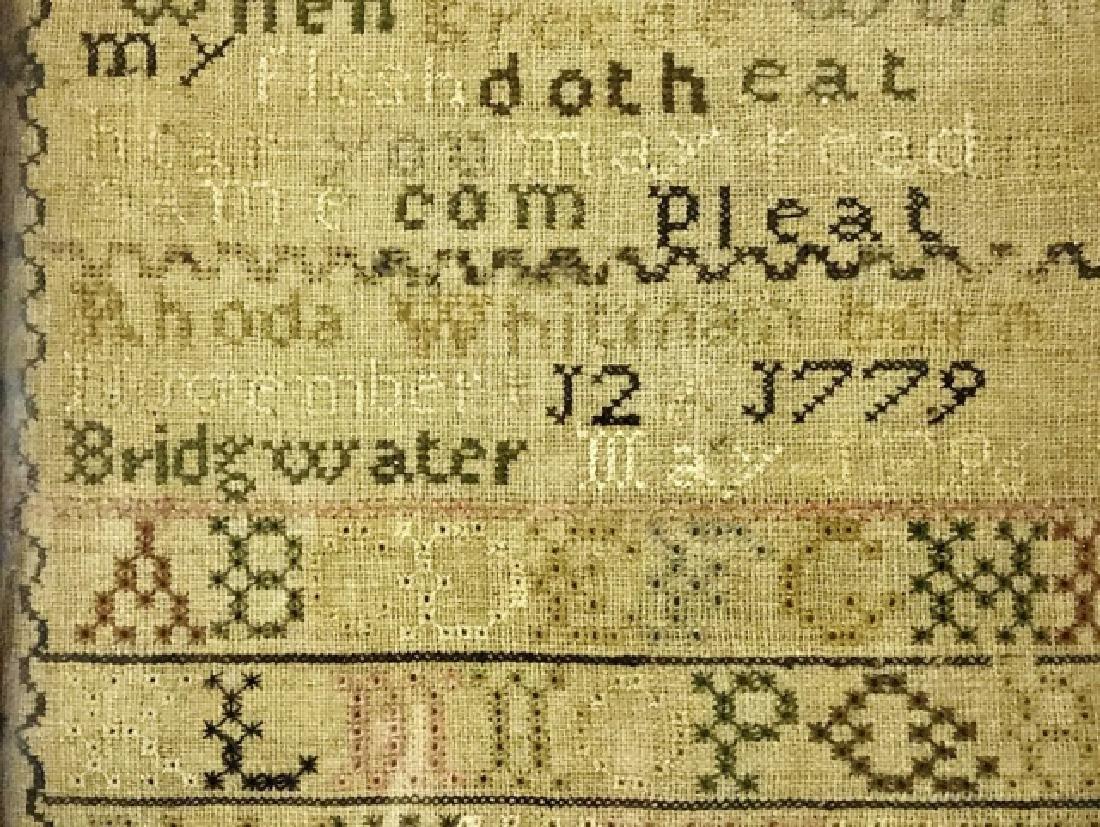 New England Sampler, Rhoda Whitman, 1796 - 4