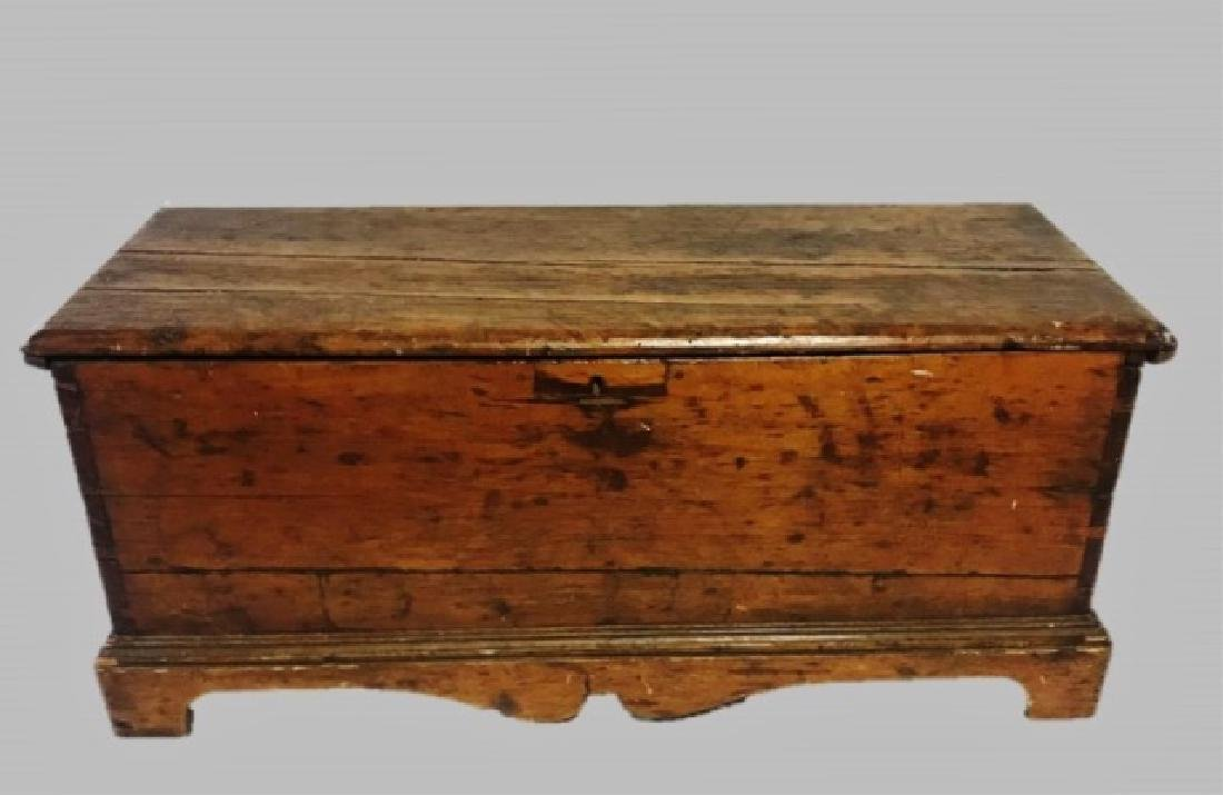 18th C. New England Pine Blanket Chest