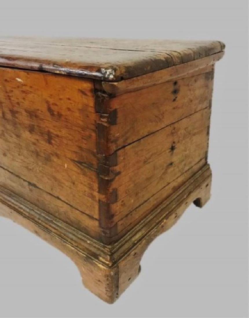 18th C. New England Pine Blanket Chest - 3