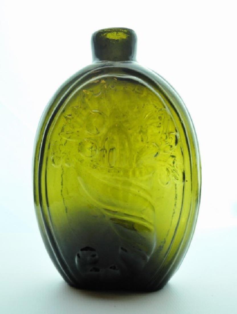 19th C. Historical Flask, Urn Cornucopia, Keene NH - 2
