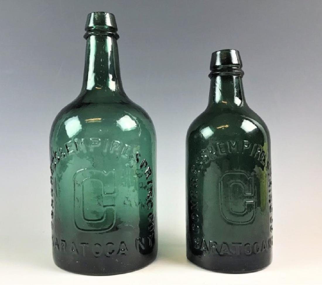 19th C Bottles Congress Water Empire Springs (2pc)