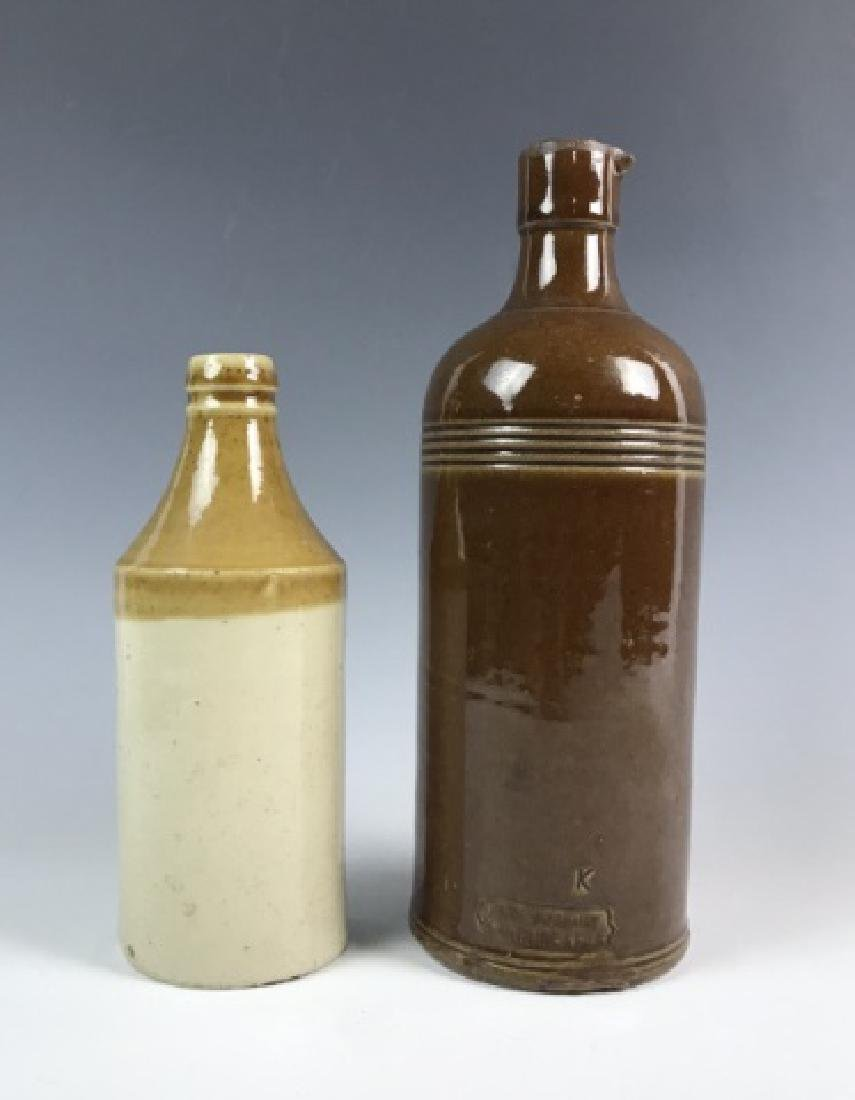 Collection, Antique Glass, Stoneware Bottles (6pc) - 4