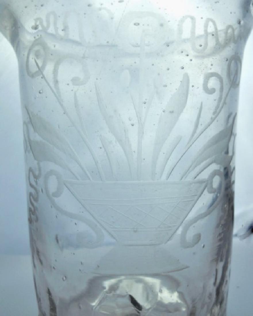 18th C. Flip Glasses, Stiegl Style Etching, (4pc) - 3