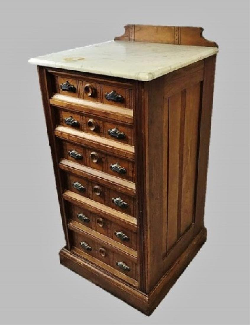 19th C. Eastlake Walnut Doctor's Chest - 2