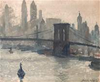 Painting O/C New York, Stokely Webster (1912-2001)