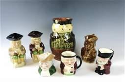 Collection, Vintage English Character Mugs, (7pc)