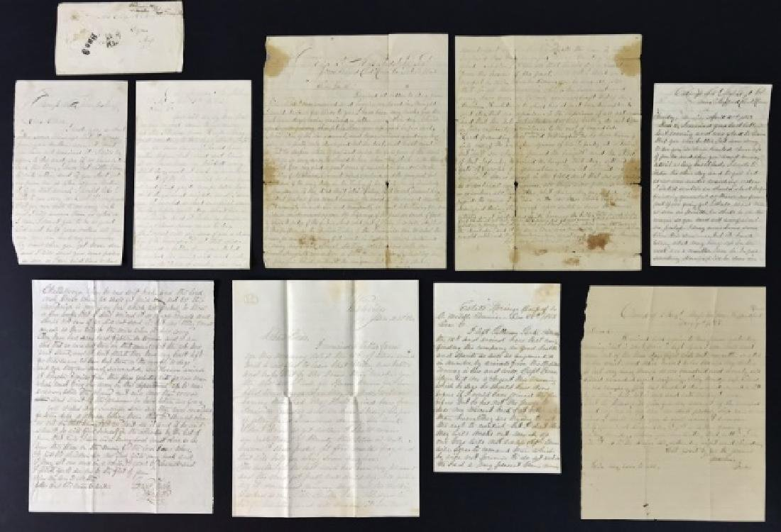Civil War Letters, William Morgan, 2nd Mass, (8pc)