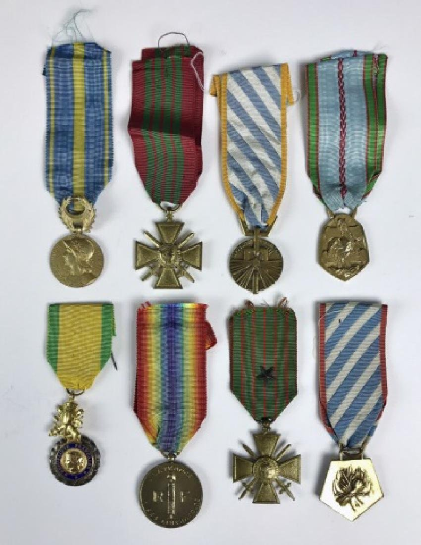 Collection WW1-WW2 French Military Medals, (8pc)
