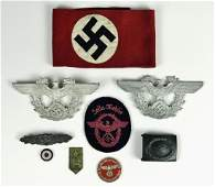 Collection, WW2 German Insignia, (9pc)