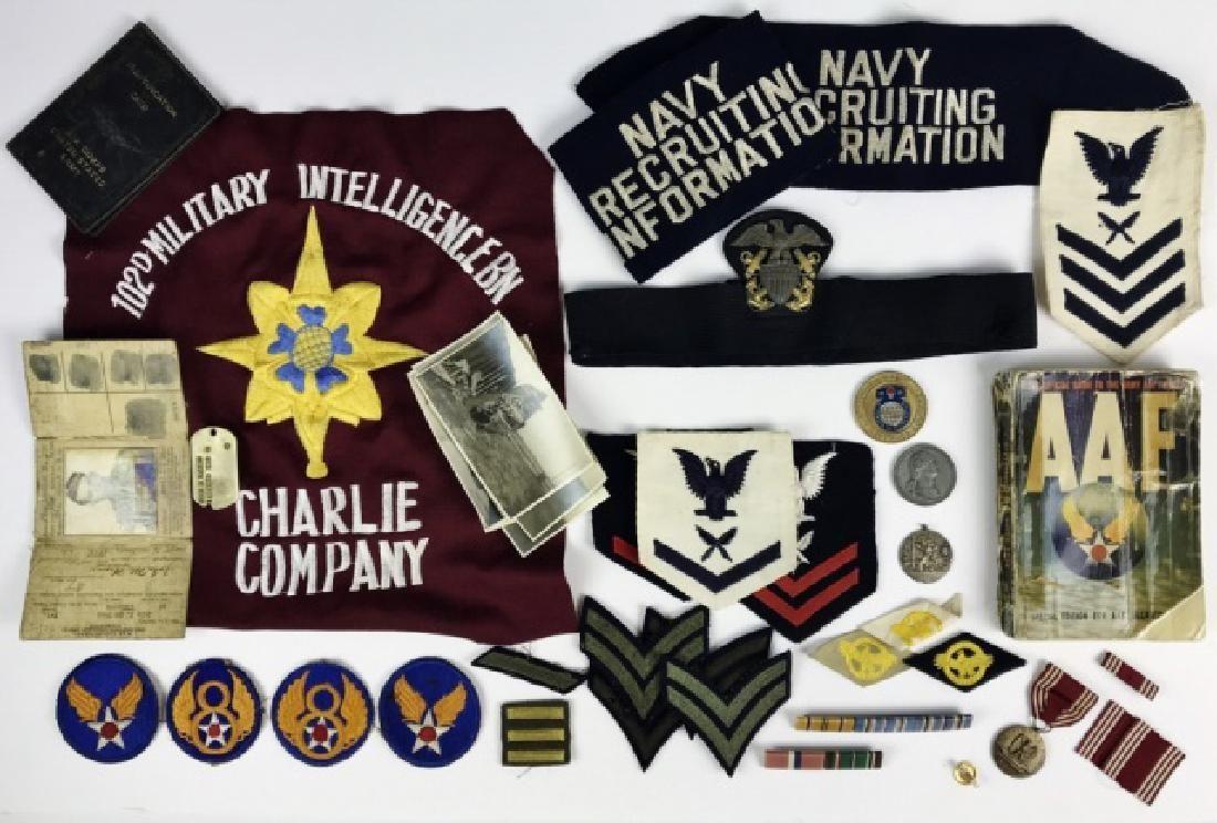 Collection, WW2 US insignia, Ephemera (40pc)
