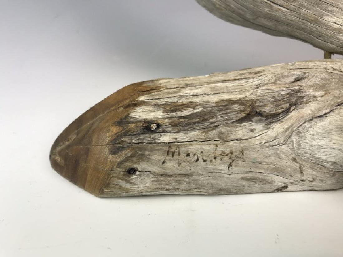 Two Carved Wood Folk Art Bird Figures, (2pc) - 3