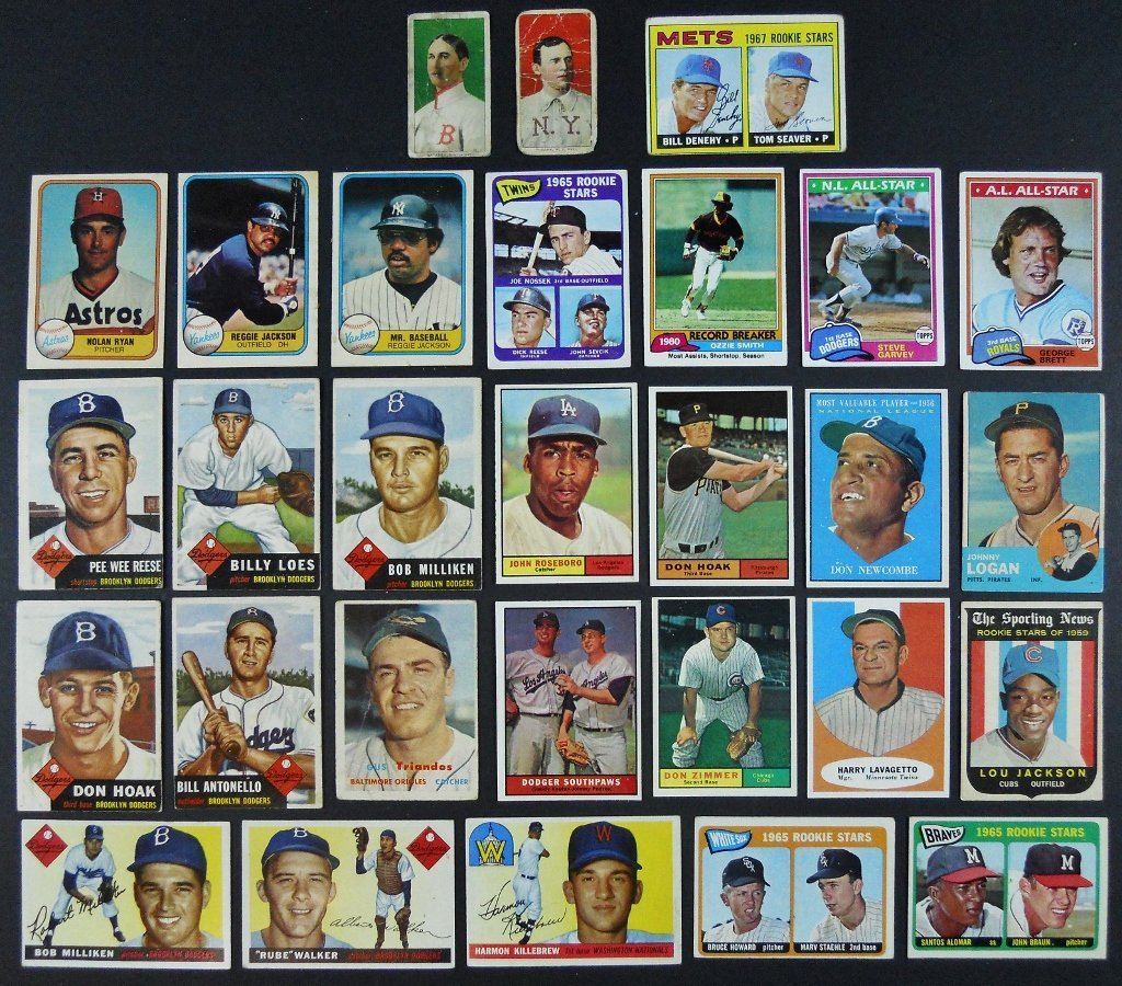 Collection, 1910's -1970's Baseball Cards, (29 pc)