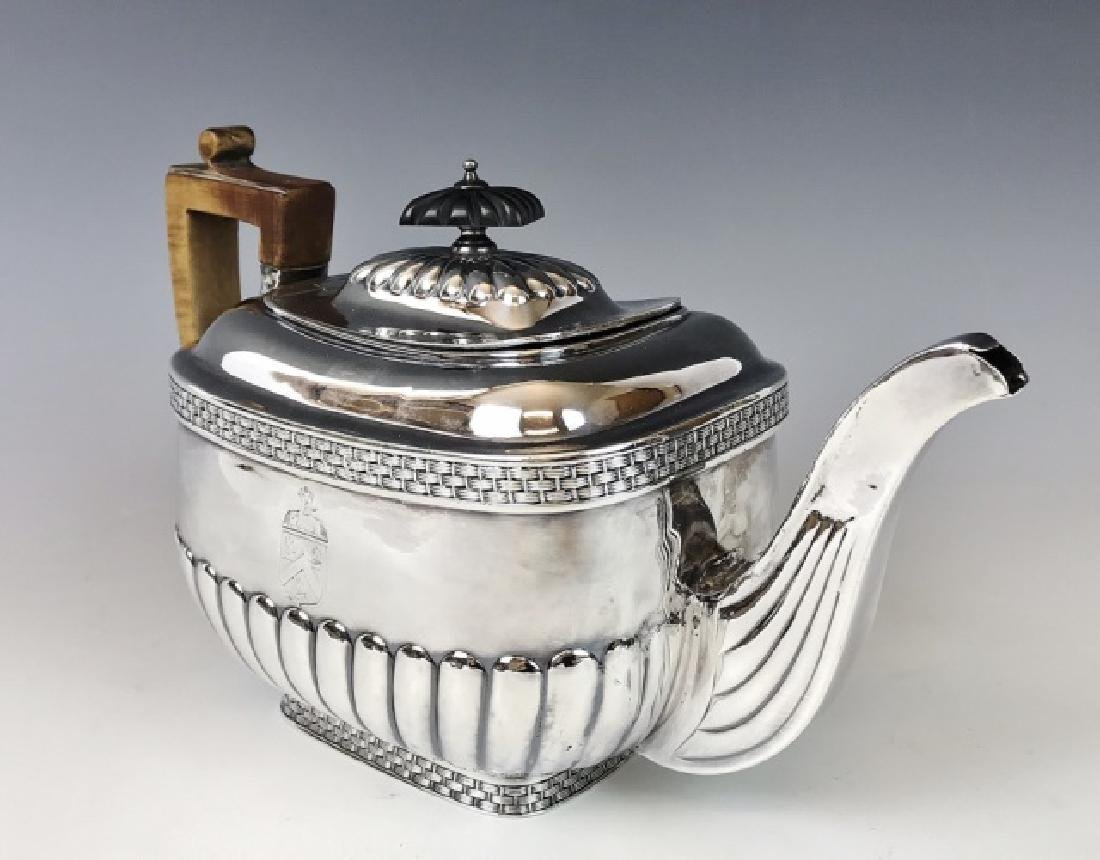 George III Sterling Silver Teapot, John Smith Arms