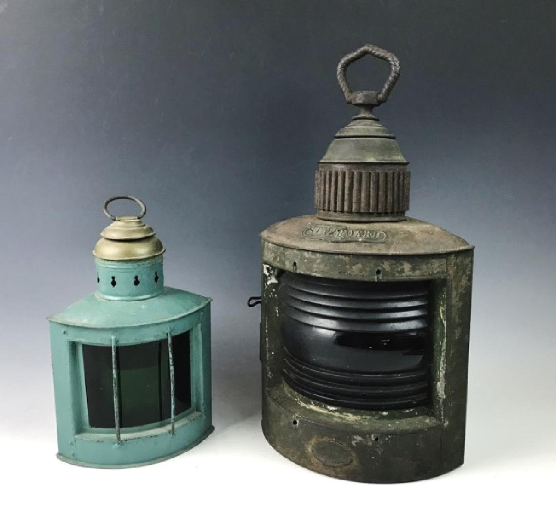 Antique Ship's Lanterns, Nathaniel Tufts, (2pc)