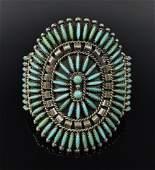 Native  Silver Turquoise Bracelet Charlie John