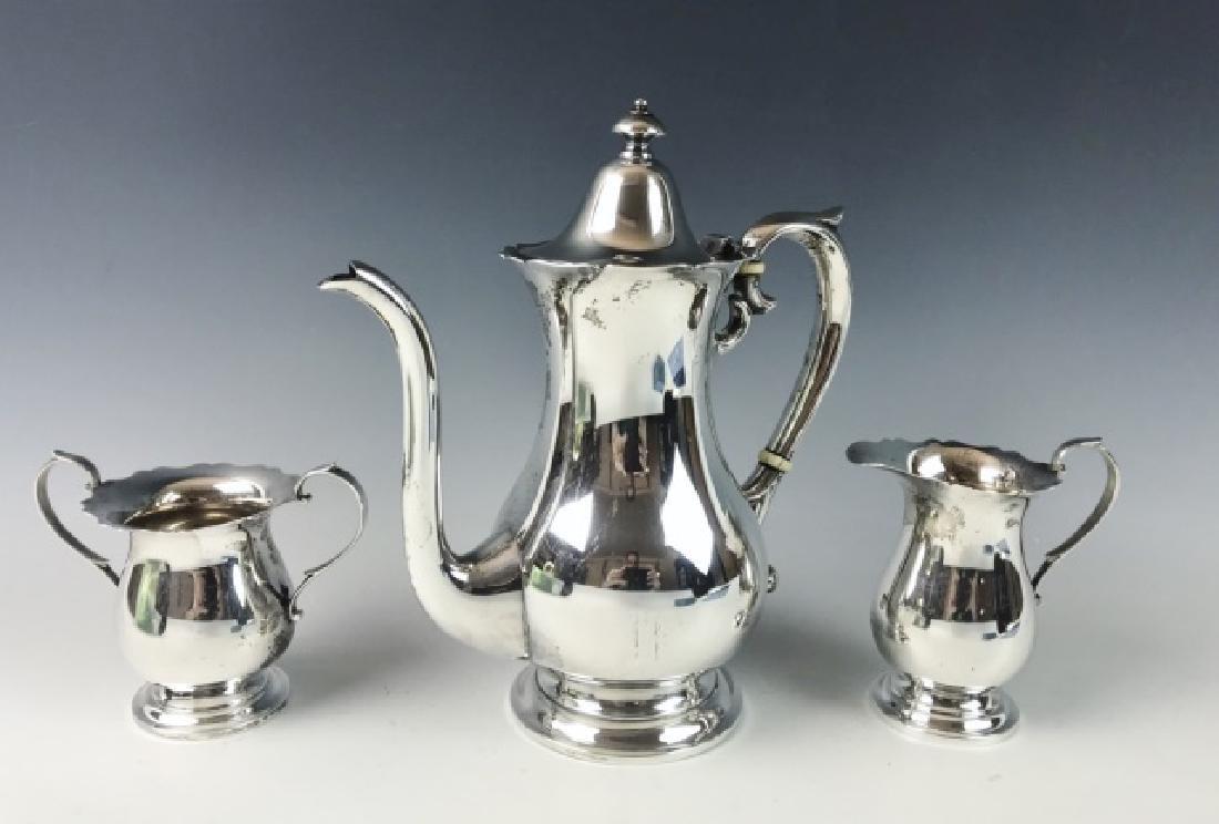 Sterling Silver Tea Set, Mueck-Carey, (3pc)