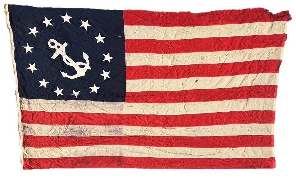 Circa 1900 Sewn American Yachting Flag