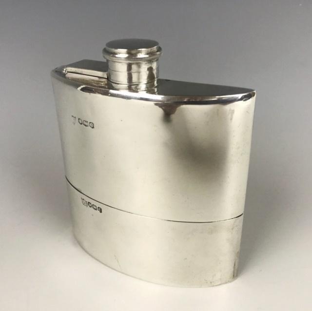 20th C. English Sterling Silver Flask, Sheffield