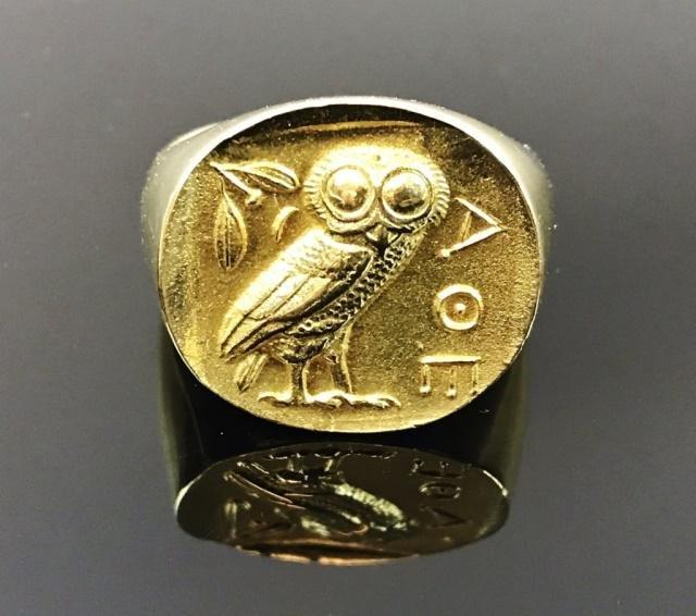 18K Gold Men's Ring