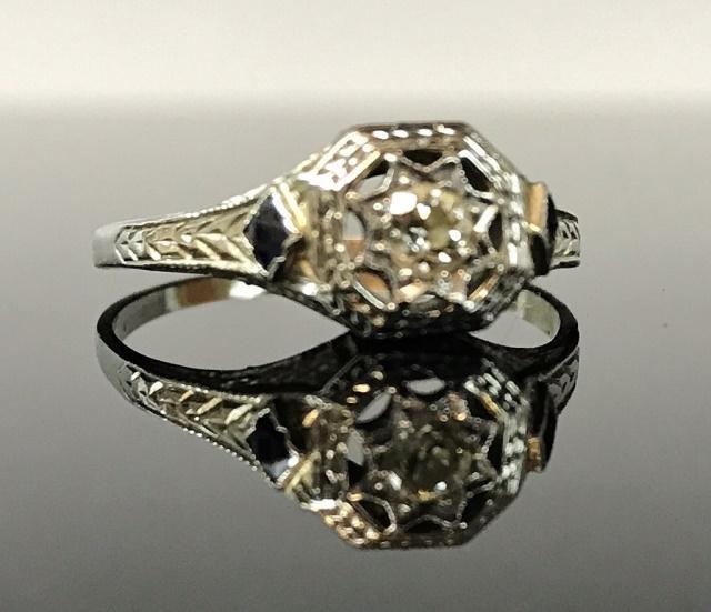 Antique 14K Gold, Diamond Ring