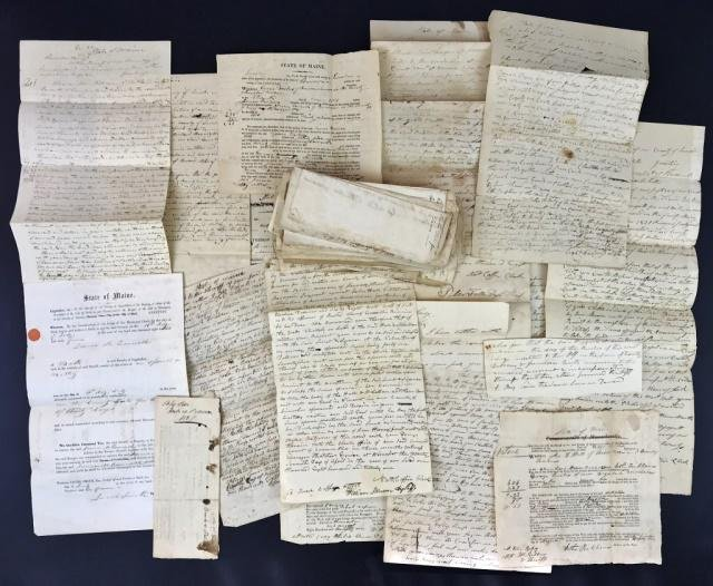Early 19th C Court Documents, Lincoln Maine (73pc)