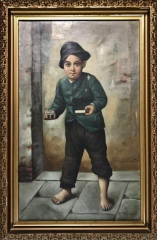 Early 20th C. Oil on Canvas Painting, D. Wilson