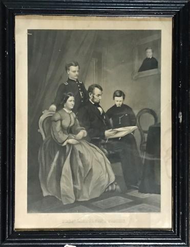 Engraving, Abraham Lincoln Family,  A.B.Walter