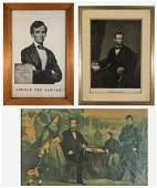 19th C.  Abraham Lincoln Prints (3pc)