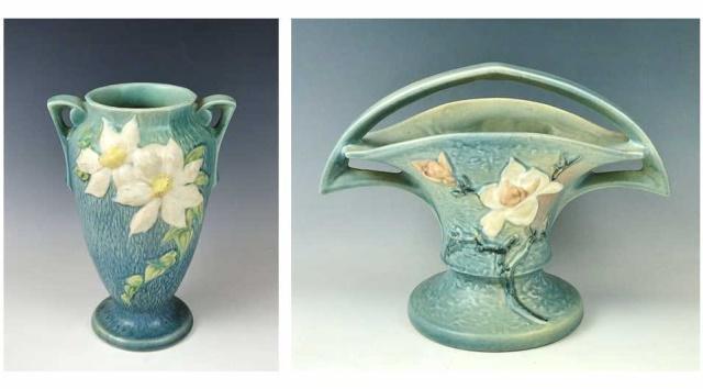 Art Pottery Vases, Roseville (2pc)
