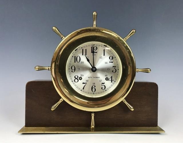 Ship's Bell Clock on Base, Seth Thomas