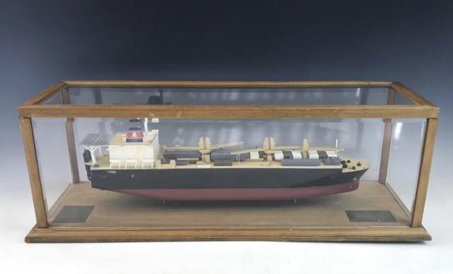 Vintage Cased Ship Model, General Dynamics