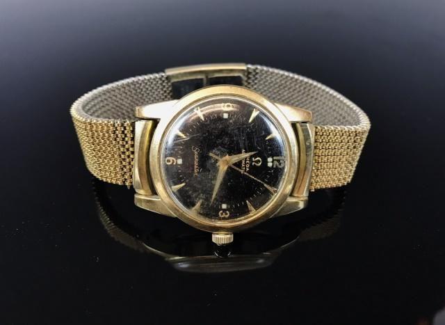 Vintage Men's 14K Automatic Watch, Omega Seamaster
