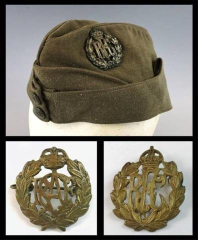 WW1 Canadian Royal Flying Corps Cap, Badges (3pc)