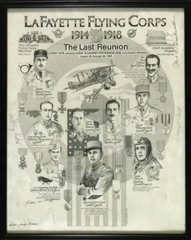 WW1 France Lafayette Flying Corps Group (28pc)