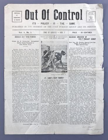 WW1 US First Pursuit Group Newsletter, 1918