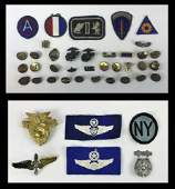 US Armed Forces Pins, Patches, Insignia (41pc)