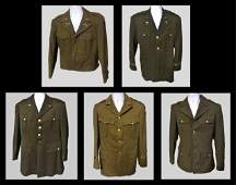 Collection, WW2 US Army Uniforms, (5pc)