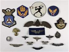 Collection, WW2 US, British Insignia, (18pc)