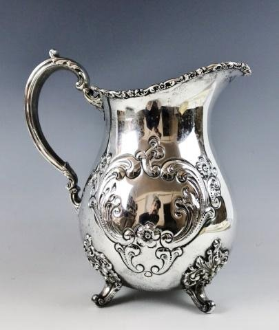 Antique Sterling Silver Pitcher, Pool