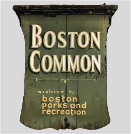 Early 20th C. Hand Painted Sign, BOSTON COMMON