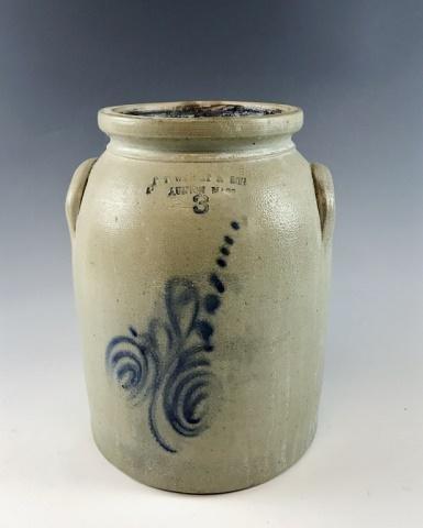 19th C. Stoneware Crock, R.T WRIGHT & SON