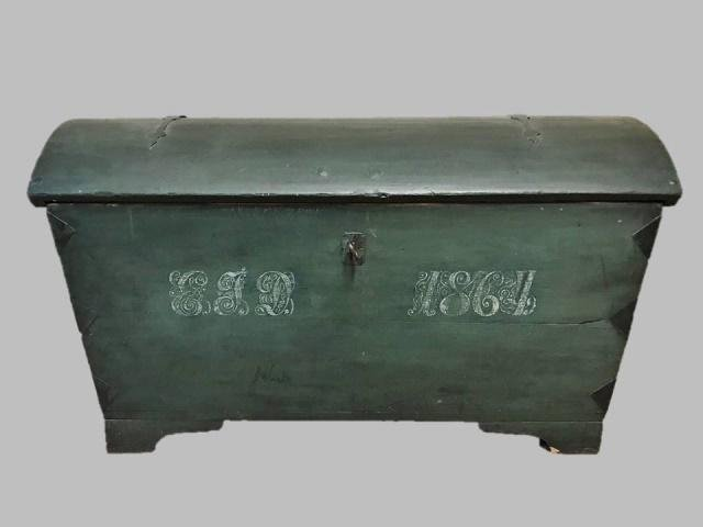 Large 19th C. Immigrant Chest, Dated 1864