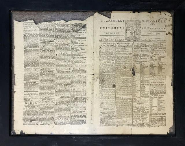1784 The Independent Chronicle, Paul Revere Advert