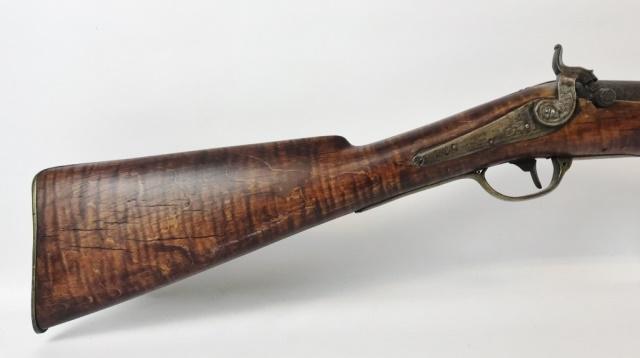 19th C. American Smooth Bore Long Gun, Jos Golcher