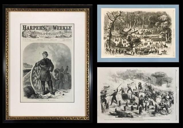 Civil War Era Harper's Weekly Prints (3pc)