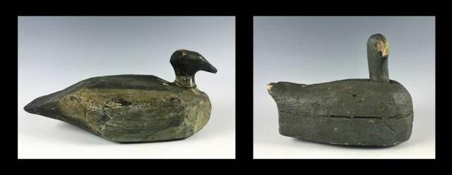 Primitive Hand Carved, Painted  Duck Decoys (2pc)