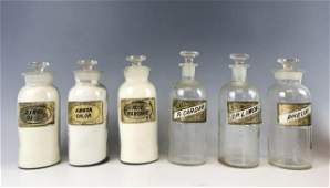 Collection, 19th C. Apothecary Bottles, (7pc)